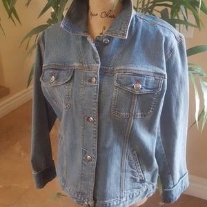 EUC Chico's Denim Jacket